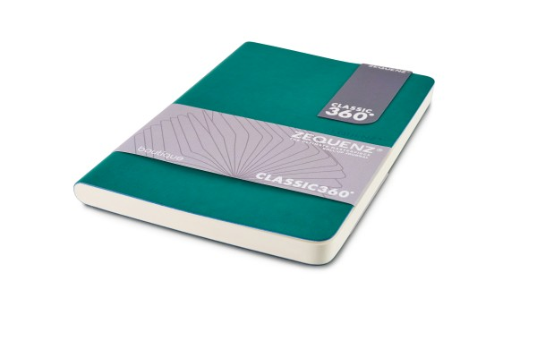 Zequenz Boutique notebook 360 tourmaline green B6 12.5x17.8 cm