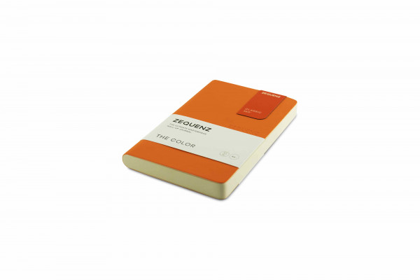 Zequenz The Color Notizbuch A6- Aprikosen Orange