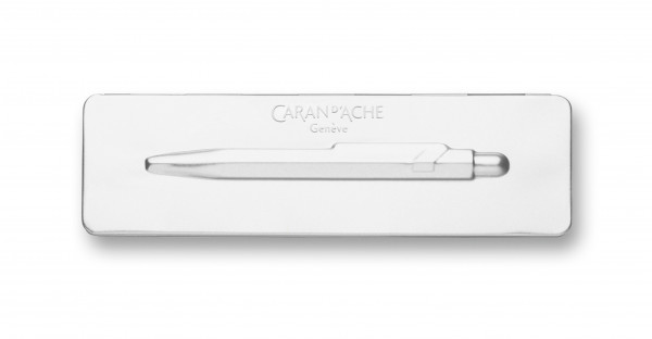 Caran d'Ache Slim Pack metal case for white ballpoint pens