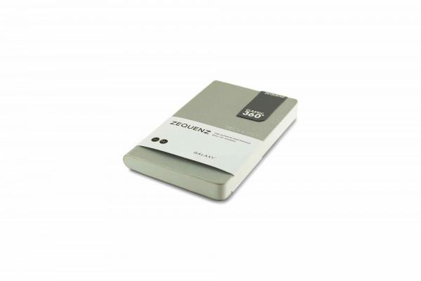 Zequenz Galaxy 360 Notizbuch A6- Silber 9x14 cm