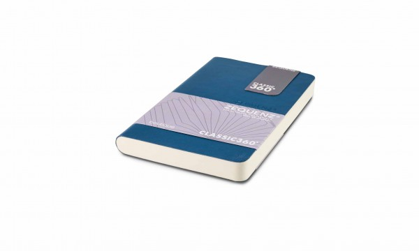 Zequenz Boutique notebook 360 petrol blue A6- mini