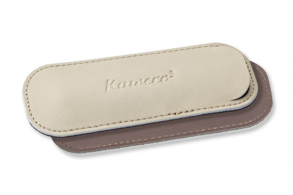 Kaweco Sport ECO leather pouch for 2 pens Creamy Espresso